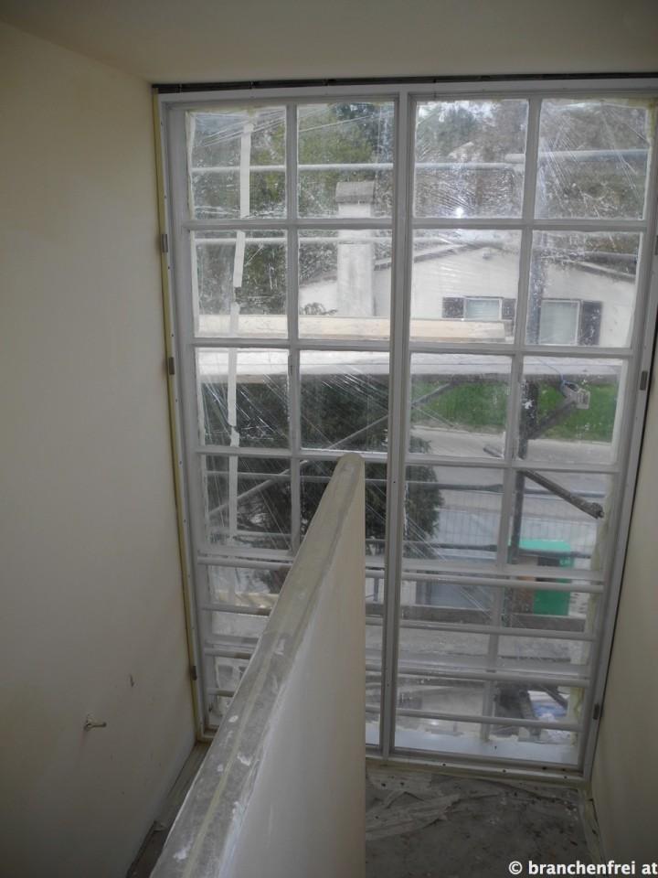 Haus Hoffmann mit der Verdoppelung der Verglasung.