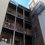 Der Balkon.